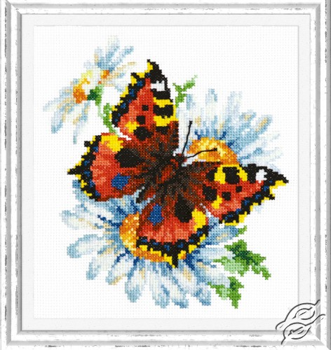 Butterfly and Daisies by Magic Needle - 42-11