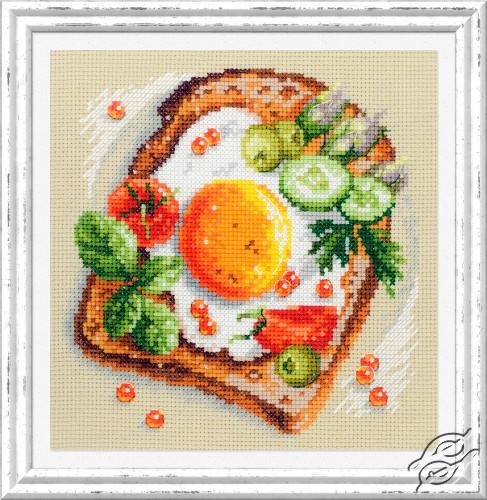 Fried Eggs Toast by Magic Needle - 120-092