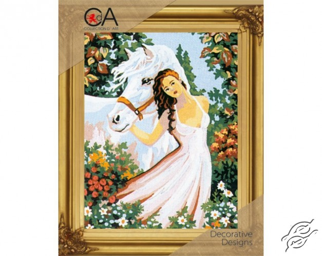 Girl with Horse by Collection D'Art - 6036K
