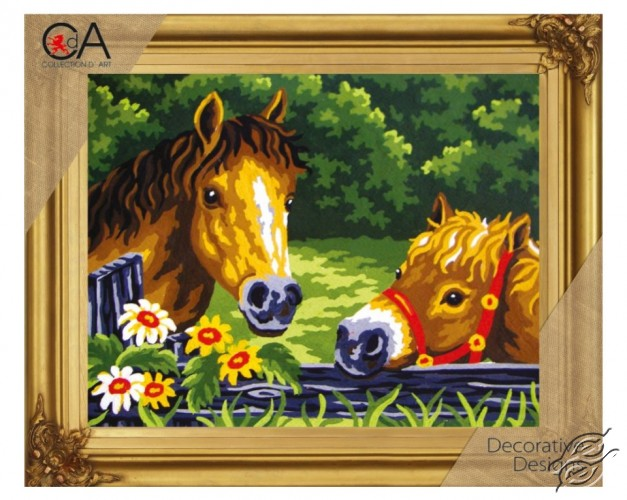 Horse and Pony by Collection D'Art - 6235k