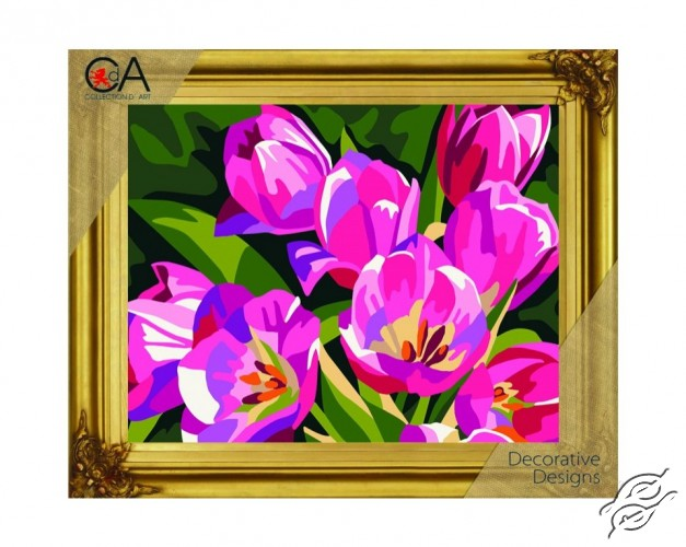 Pink Tulips by Collection D'Art - 6289K