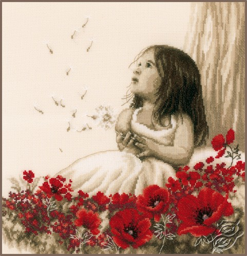 Girl in a Poppy Field by Vervaco - PN-0184269