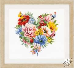 Heart of Flowers by Vervaco - PN-0179766
