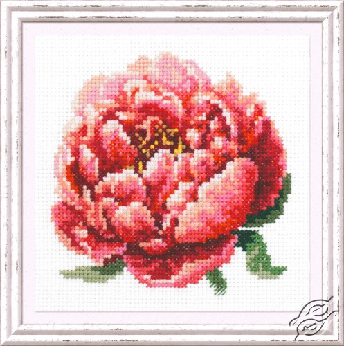 Red Peony by Magic Needle - 150-009