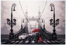 Foggy night in Budapest by Collection D'Art - PA1648