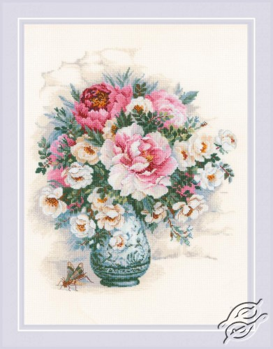 Peonies and Wild Roses by RIOLIS - 1816