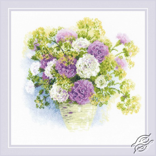 Watercolor Carnations by RIOLIS - 1846