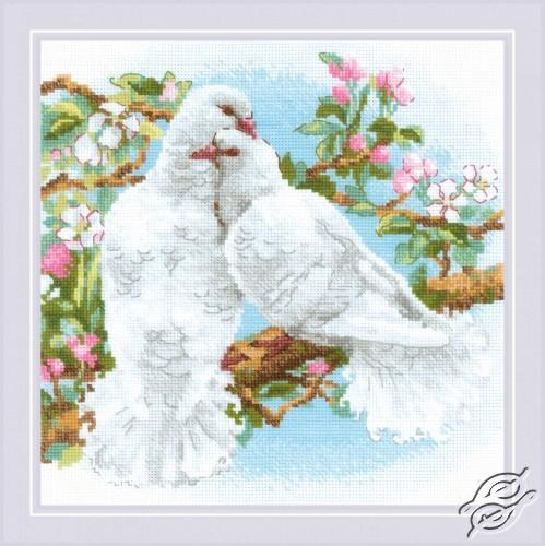 White Doves by RIOLIS - 1856