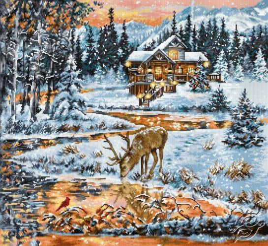 Snowy Cabin by Luca-S - BU4022