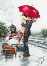 Couple on the Train Station by Luca-S - B2369