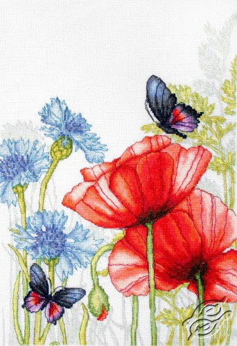 Poppies and Butterflies by Luca-S - BU4018