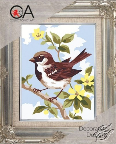 Bird on a Branch by Collection D'Art - 3315K