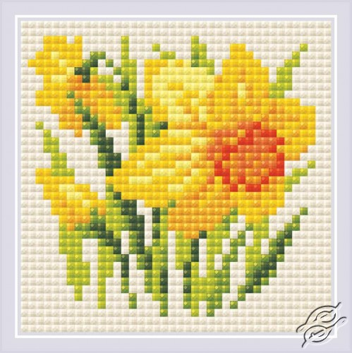 Yellow Narcissus by RIOLIS - AM0032