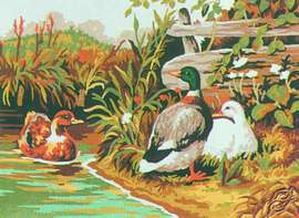 Ducks on the Pond by Collection D'Art - 6029K