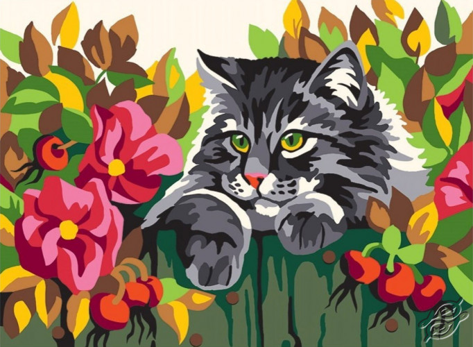 Cat on the Fence by Collection D'Art - 6282K