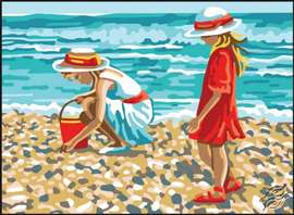 Young Ladies on the Shore by Collection D'Art - 6323K