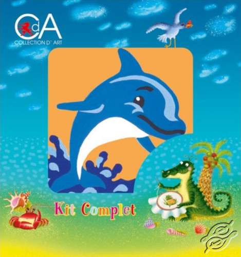 Dolphin by Collection D'Art - 1020K