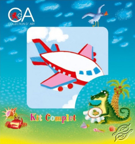 A Little Airplane by Collection D'Art - 1001K
