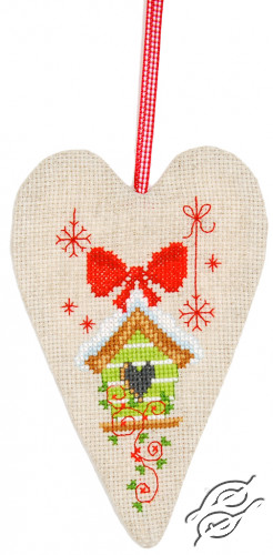 Deco Heart Birdhouse by Vervaco - PN-0145782