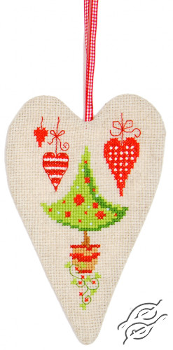 Deco Heart Christmas Tree and Hearts by Vervaco - PN-0145784