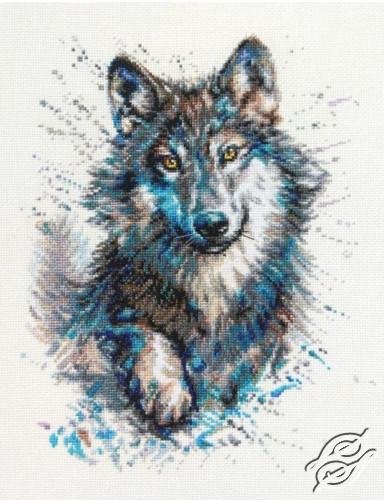 Snow Splashes. Wolf. by RTO - M805