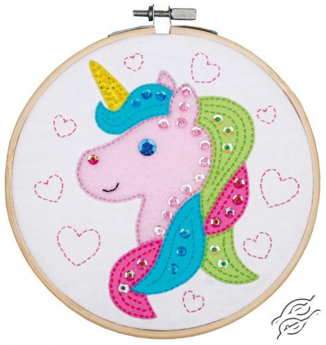 Craft Kit With Felt Unicorn by Vervaco - PN-0180497