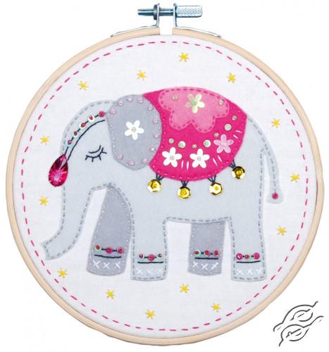 Craft Kit With Felt Elephant by Vervaco - PN-0180499