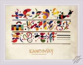 Succession after W. Kandinsky's composition by RIOLIS - 0080-PT