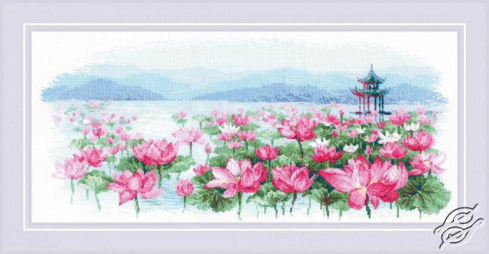 Lotus Field. Pagoda on the Water by RIOLIS - 1869