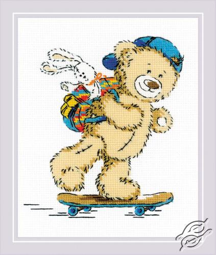 Teddy Bear Holiday by RIOLIS - 1911