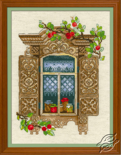 Window With Apples by RIOLIS - 1732