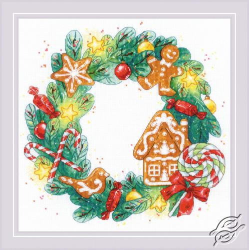 Gingerbread Wreath by RIOLIS - 1910