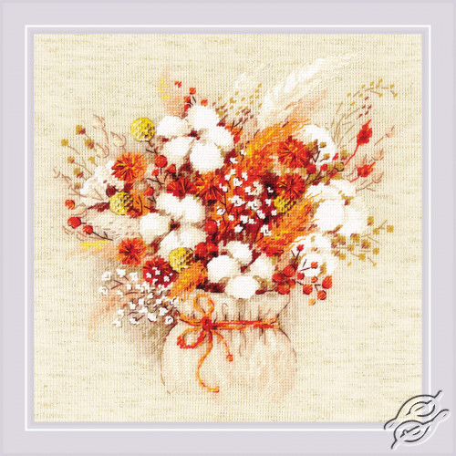 Bouquet with Lagurus and Cotton by RIOLIS - 1913