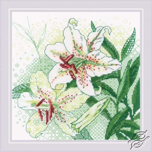 White Lilies by RIOLIS - 1915