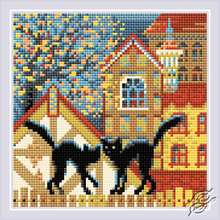 City and Cats. Autumn by RIOLIS - AM0049