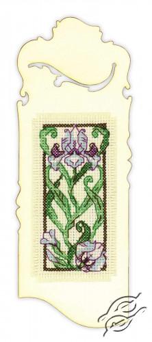 Bookmark Blooming Iris by RIOLIS - 1614AC