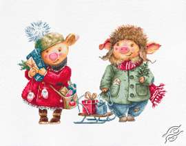 Christmas Pigs by Luca-S - B1161