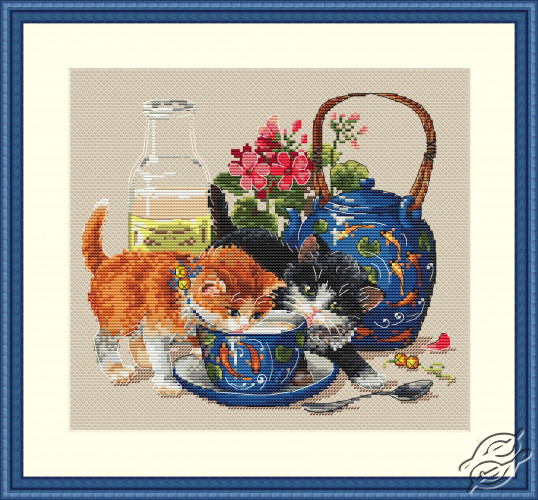 Kittens & Milk by Merejka - K-66