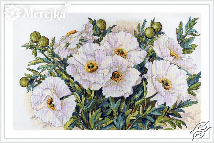 White Flowers by Merejka - K-118