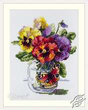 Pansies and Butterfly by Merejka - K-153