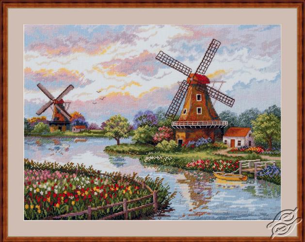 Dutch Windmills by Merejka - K-167
