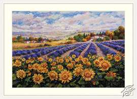 Fields of Lavender and Sun by Merejka - K-179