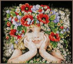 Girl with Flowers by Lanarte - PN-0156698