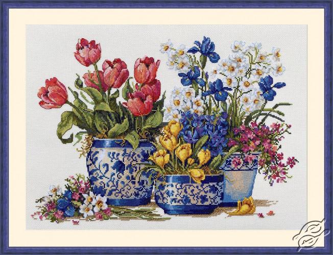 Spring Garden in Blue by Merejka - K-195