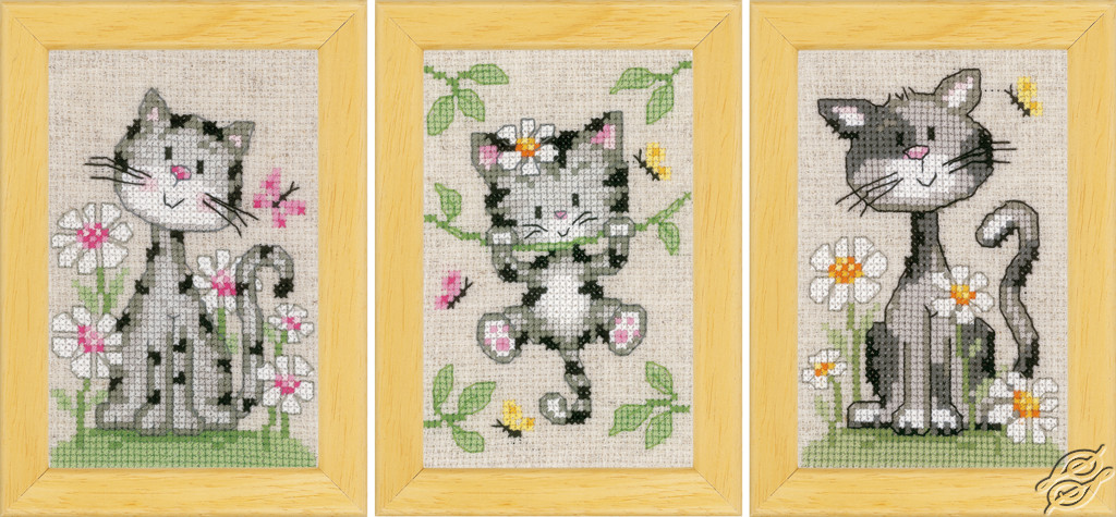 Cats and Flowers by Vervaco - PN-0147743