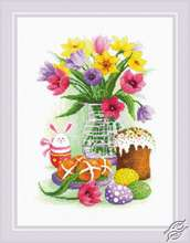 Easter Still Life with Bunny by RIOLIS - 1948