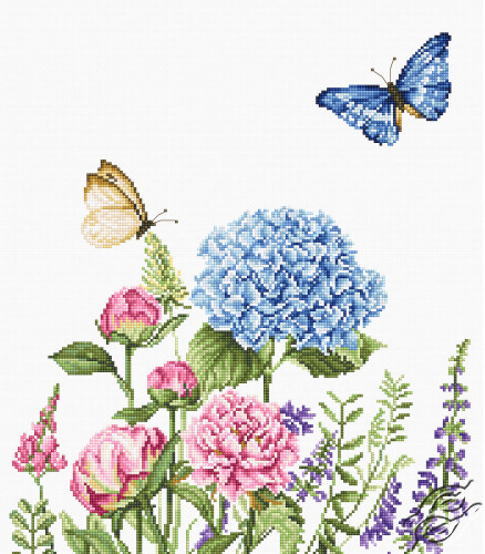 Summer Flowers and Butterflies by Luca-S - B2360