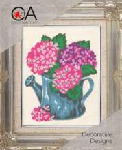 Flowers In A Watering Can by Collection D'Art - 3142K