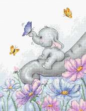 Elephant with Butterfly by Luca-S - B1183