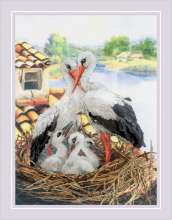 Stork Family by RIOLIS - 0088-PT